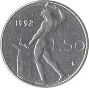 50 Lire (small type) -  reverse