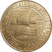 200 Lire (Philatelic Exhibition) -  reverse