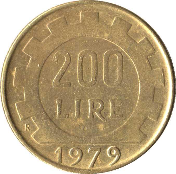 200 лир 1979 цена repubblica di san marino