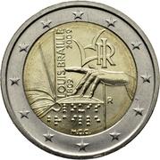2 Euro (Louis Braille) -  obverse