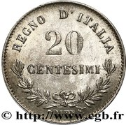20 Centesimi - Vittorio Emanuele II – reverse