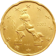 20 Euro Cent (1st map) -  obverse