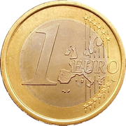 1 Euro (1st map) -  reverse