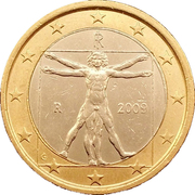 1 Euro (2nd map) -  obverse