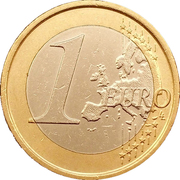 1 Euro (2nd map) – reverse