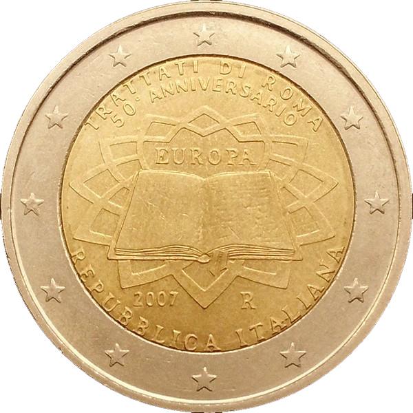 2 Euro Italy 2007 Unc Treaty of Rome