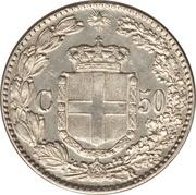 50 Centesimi - Umberto I – reverse