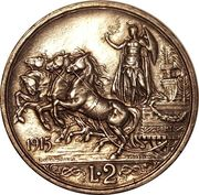 2 Lire - Vittorio Emanuele III -  reverse