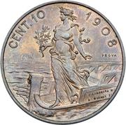 10 Centesimi - Vittorio Emanuele III – reverse