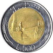 500 Lire -  reverse