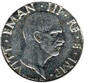 50 Centesimi - Vittorio Emanuele III (non-magnetic) -  obverse