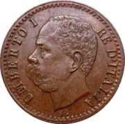 1 Centesimo - Umberto I – obverse