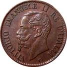1 Centesimo - Vittorio Emanuele II – obverse