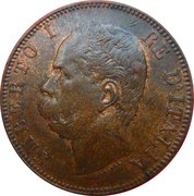 10 Centesimi - Umberto I – obverse