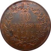 10 Centesimi - Umberto I -  reverse