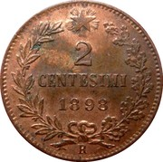 2 Centesimi - Umberto I – reverse