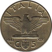 5 Centesimi - Vittorio Emanuele III -  reverse