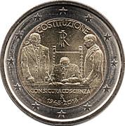 2 Euro (Italian Republic Constitution) -  obverse