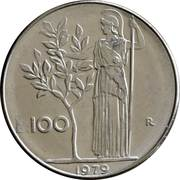 100 Lire (large type) -  reverse