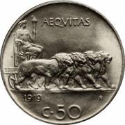50 Centesimi - Vittorio Emanuele III -  reverse