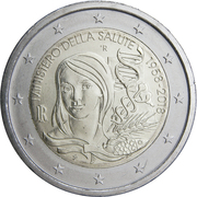 2 Euro (Ministry of Health) -  obverse