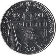 100 Lire (Livorno Naval Academy) -  reverse