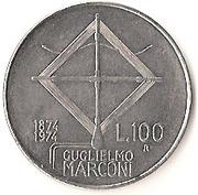 100 Lire (Guglielmo Marconi) -  reverse