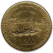 200 Lire (Taranto Naval Yards) -  reverse