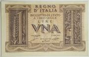 1 Lira - King Victor Emanuel III – obverse