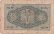 5 Lire - Victor Emanuel III – reverse