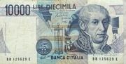 10000 Lire (Volta) – obverse