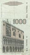 1000 Lire (Marco Polo) – reverse