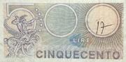 500 Lire (Mercurio) – reverse