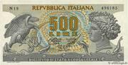 500 Lire (Aretusa) – obverse