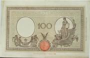 """100 Lire """"Grande B"""" (Testina and Fascio seals) – reverse"""