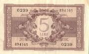 5 Lire -  reverse