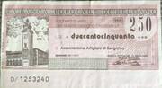 250 Lire - Banca Popolare di Bergamo – obverse