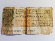 50 Lire Istituto Bancario San Paolo di Torino – obverse