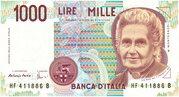 1000 Lire (Montessori) – obverse
