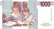 1000 Lire (Montessori) – reverse
