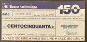 150 lire Banco Ambrosiano -  obverse