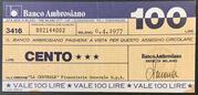 100 Lire Banco Ambrosiano – obverse