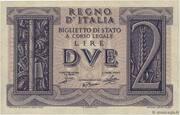 2 Lire - Vittorio Emanuele III – obverse