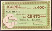 100 lire ICCREA – obverse