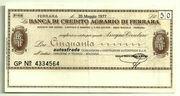 50 Lire (Banca di credito agrario di Ferrara) – obverse