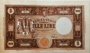 "1000 Lire ""grande M"" (Fascio - 2nd type) – obverse"