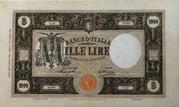 "1000 Lire ""grande M"" (Fascio - 1st type) – obverse"