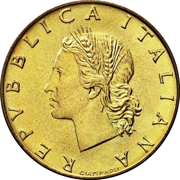 200 Lire 1975 to 1995 Italy Coin Italian Coin 1 Lira Random Date