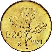 20 Lire -  reverse