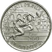 500 Lire (World Athletic Championships) -  obverse